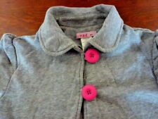 LADIES SUPRE GREY SHORT SLEEVE JACKET WITH PINK BUTTONS SIZE XS