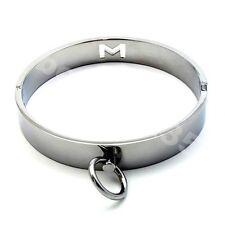 "Steel Metal Slave 15"" neck collar Restraint Magnetic Locking Pin Medium Secure"