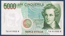 BILLET de BANQUE D'ITALIE.5000 LIRE Pick n°111.b de 4-1-1985 en SUP TA 411552 K