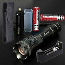 LED 8000lm CREE XM-L T6 Flashlight Torch 18650 Battery & Charger & Holster SE