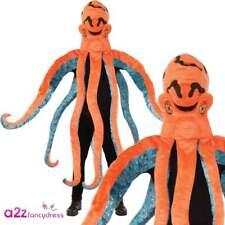 Poulpe Costume Adulte Mascotte Mer Carnaval Nouveauté Déguisements Unisex
