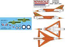 RAAF Mirage IIIo Mini-Set Decals 1/48 Scale N48053c