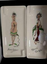 H. Jessor Ashtray Mid Century Made in California hand made lot of 2 bath decor