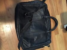 Vintage Coach  Black Glove leather Briefcase Shoulder Messenger bag