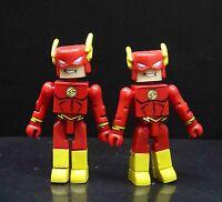 """lot of 2 DC Comics the flashToys Minifigure Mini action figure 2"""" #lk9"""