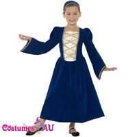 Girls Tudor Renaissance Princess Medieval Fancy Dress Costume Kids Book Week