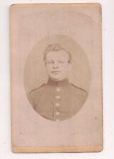 Vintage CDV German Soldier Military Uniform B. Glatz Photo Rastatt