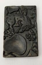 Jade Inkstone Bull And Child