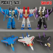 "Mini G1 F15 Team Decepticons Starscream Thundercracker Skywarp 4"" Action Figure"