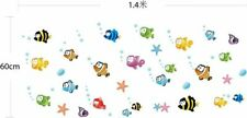 Wall Sticker Toilet Bathroom Home Decoration Bubble Fish Background Art Stickers