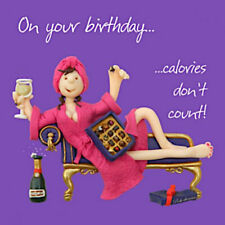 Chocolate Processo Calories Blank Funny Mum Daughter Sister Aunt Birthday Card