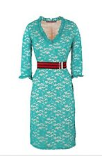 Guess Women's Green Lace 3/4 Sleeve Length Pencil Dress Size Small NEW