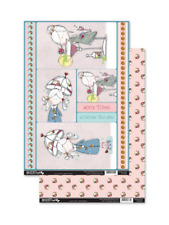 Lilac Olive - TIME TO PARTY - Topper & Backing Sheet Set - Die Cut