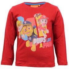 Magliette, maglie e camicie rosso a manica lunga per bambine dai 2 ai 16 anni 100% Cotone