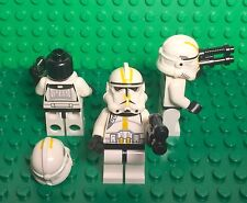 LEGO New Clone Trooper Ep.3 with Yellow Markings and No Pauldron Mini Figure X3