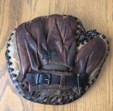 Vintage RARE James W Brine Co Baseball Glove Catchers Mitt Boston Mass