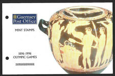 GUERNSEY 1996 OLYMPIC GAMES SET OF 5 Presentation Pack + 2 x FDC