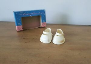"IN BOX Fairyland 1950s Alexander Effanbee R&B No.1 16-17"" White Vinyl Doll Shoes"
