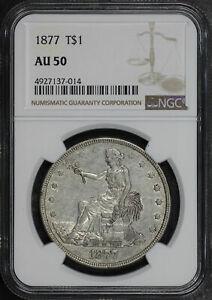 1877 Trade Dollar NGC AU-50