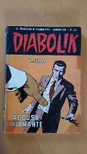DIABOLIK anno IX n. 21  Accusa infamante   ORIGINALE  Sodip 1970