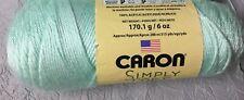 X2 Skeins Caron Simply Soft Yarn Green Acrylic