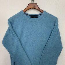 James Pringle Wool Sweater, Small, Blue, Scotland