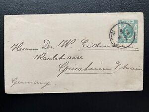 Hong Kong KE 2c GPO EN1 Postal Stationery Envelope Used from Canton to Germany