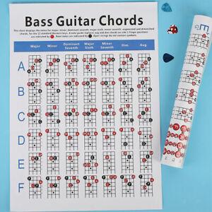 Bass Guitar  Practice Chart Learn Teach Play Guitar Guitar Accessory