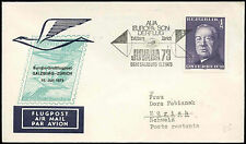 Austria 1973 FFC First Flight Cover, Salzburg-Zurich #C16834