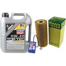 LIQUI MOLY 5L 5W-40 Motor-Öl+MANN-FILTER Audi A4 Avant 8E5 B6 1.9 TDI
