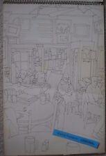 ORIGINAL KAFFE FASSETT SKETCH BOOK & COPIES OF PENRYN GALLERY POSTER & MALE NUDE