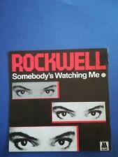 Pochette seule 45T vintage TTBE - ROCKWELL - Somebody Watching me - M Jackson