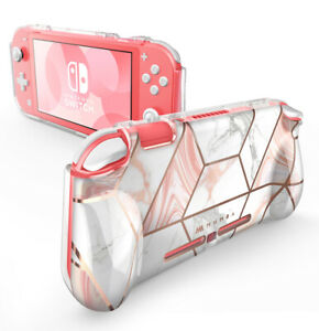 For Nintendo Switch Lite 2019, Mumba Flexible Case Transparent TPU Grip Cover