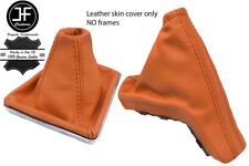 ORANGE TOP GRAIN REAL LEATHER GAITER SET FOR VAUXHALL OPEL ASTRA MK5 H 2004-2009