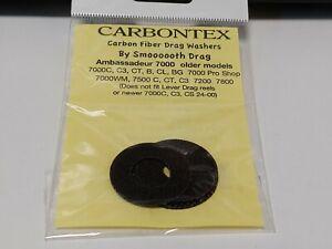 1 Set Carbontex Drag Washers Abu Garcia Fits 7000, 7000 C,C3,CT,B,CL,BG, 7500C..