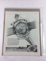 Mido Self-Winding Watch Vintage Art Print Collectible Advertisement 10.5 x 13