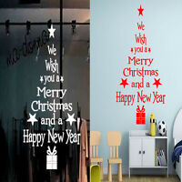 DIY Merry Christmas Tree Happy New Year Decal Vinyl Art Sticker For Wall/ Window