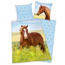Pferde Bettwäsche Flanell 80x80 135x200 cm