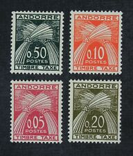 CKStamps: Andorra Stamps Collection Scott#J42-J45 Mint LH OG