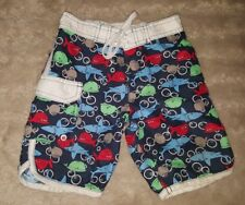 Boys Sz 1 blue green red & white TARGET shark whale surf / board shorts CUTE!