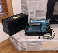 Working Precision Deluxe Japan Made Electric-Blue Homestead Sewing Machine