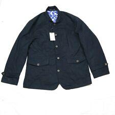 Robert Graham Wolf Woven Jacket Navy Blue 2XL RR13-5021 Casual Cashmere Cotton