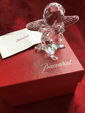 NEW NIB FLAWLESS Exceptional BACCARAT Crystal Blowing Kiss Praying CHERUB ANGEL