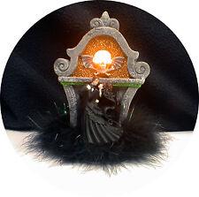 Eyes LIGHT up SKULL Halloween Black Wedding Cake Topper skeleton day of the dead