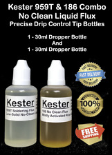 60ml Kester 959t Amp 186 Flux Combo Dropper Bottles With Precise Control Drip Tip