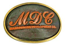 Mine Energy Vintage Leather Brass Belt Buckle Marrowbone Developement Co Coal