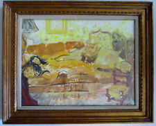 Vintage Oil Painting Unknown Artist Signed. Nude.
