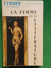 LA FEMME ET LA LITTERATURE REVUE EUROPE NO 427 428 NOV DEC 1964