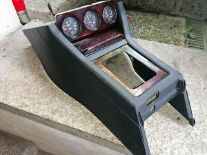 8441 Mittelkonsole mit Zusatzinstrumente Audi 80 B3 B4 Sport komplett Holzoptik