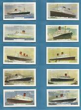 cigarette/trade cards - THE CUNARD LINE - Full mint condition set.